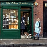 Kate Moss left a store followed by Jamie Hince.