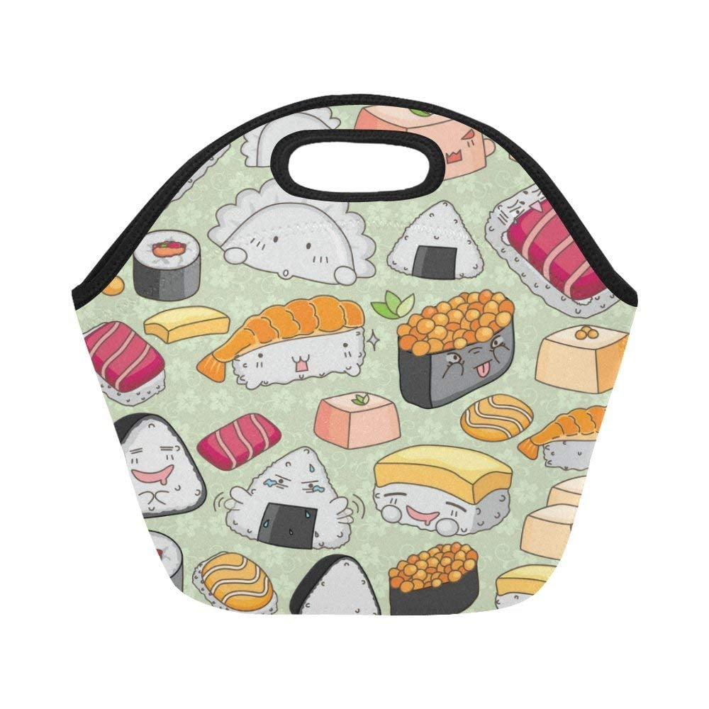 Interest Print Sushi Emoticon Insulated Lunch Tote Best Gifts For Gund Pusheen