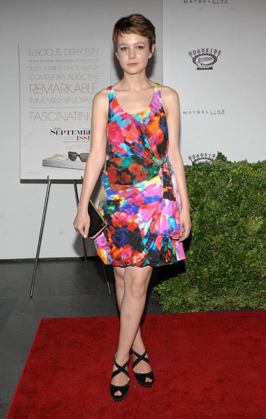 Here is one of Carey's most colorful looks yet, in Thakoon.