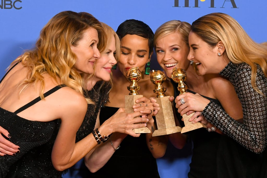 In 2018, Laura Dern, Nicole Kidman, Zoë Kravitz, Reese Witherspoon, and Shailene Woodley celebrated Big Little Lies winning the award for best miniseries or television film.