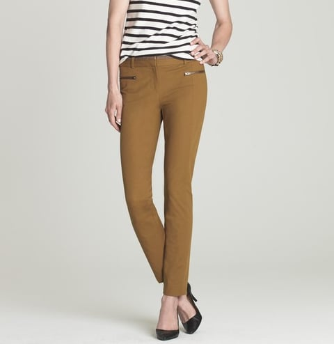 Streamlined and super chic with great zipper-pocket detailing that adds a modern edge.   J.Crew Minnie Pant in Twill ($98)