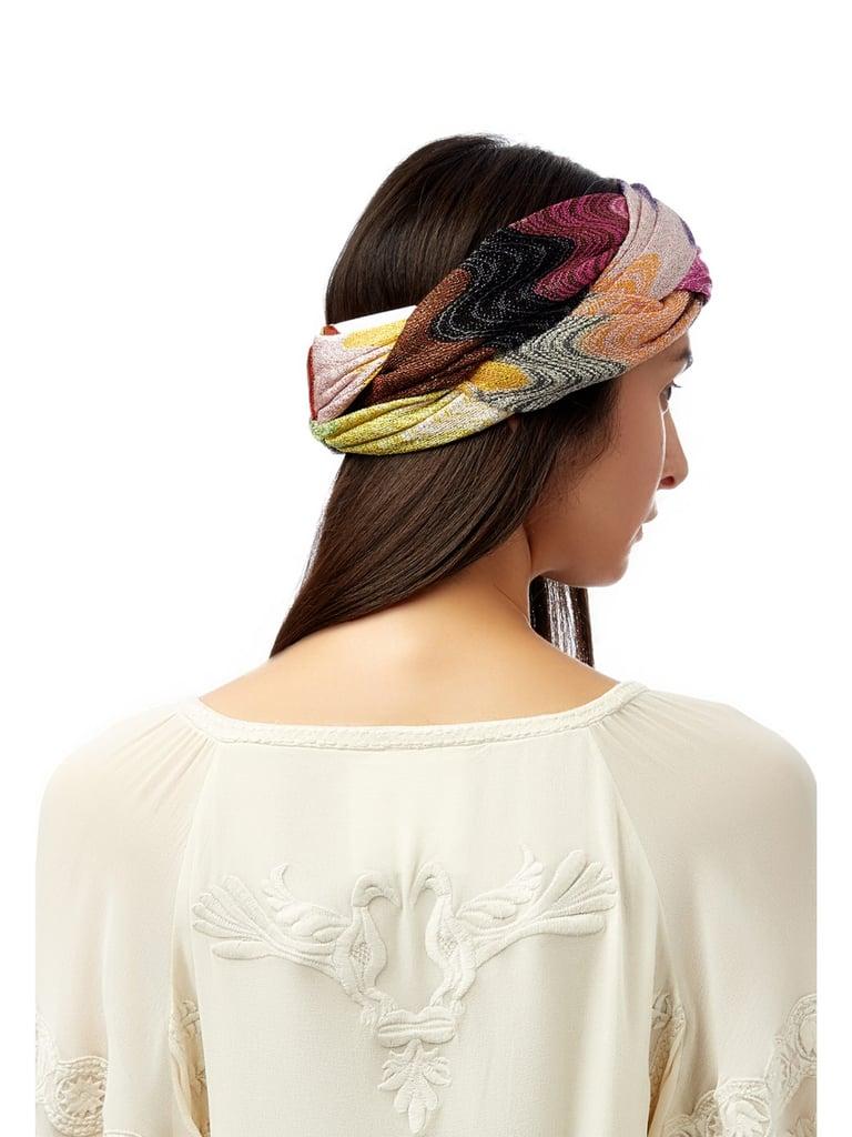 Wave-Strip Plaited and Knit Headband