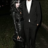 Millie Mackintosh and Professor Green pulled off gothic glam in their Addams family outfits for Jonathan Ross's 2013 party.