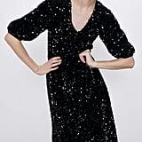 Zara Sequined Velvet Dress