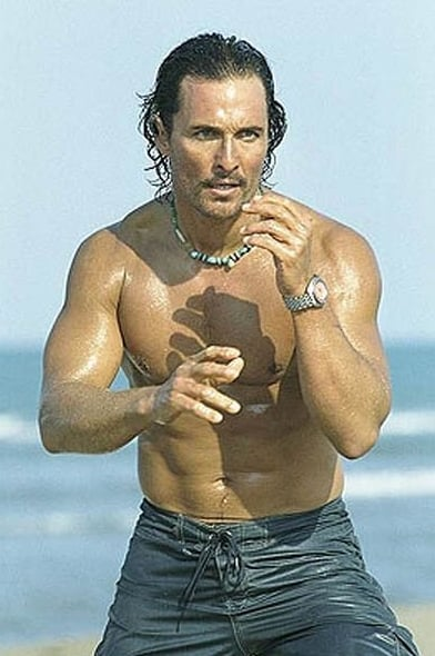 Matthew was shirtless and ready to battle in 2005's Sahara.