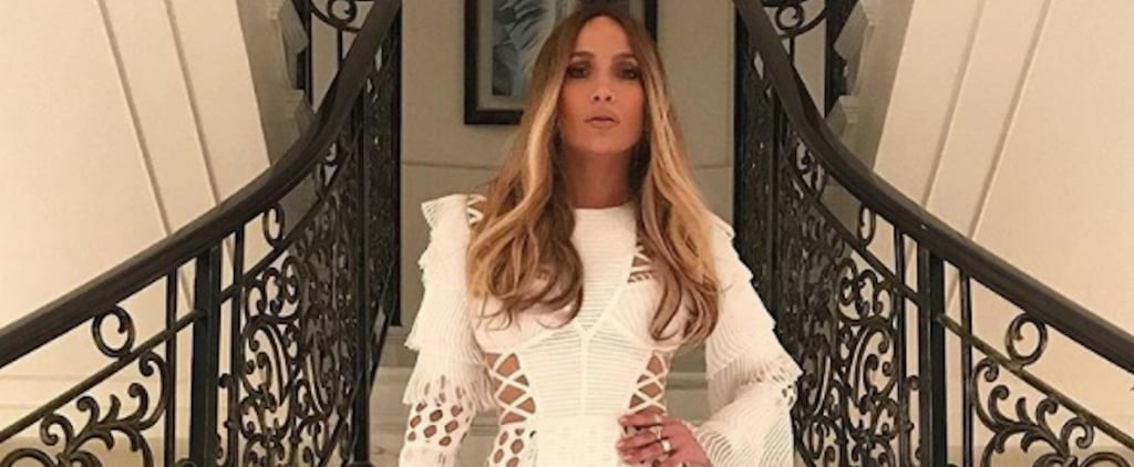 Jennifer Lopez White Balmain Dress