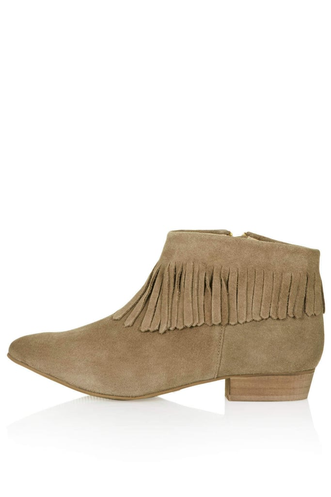 Topshop Blinked Fringe Ankle Boot
