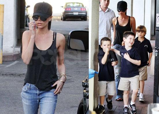 Photos of Victoria Beckham, Romeo Beckham, Cruz Beckham, and Brooklyn Beckham Together in LA