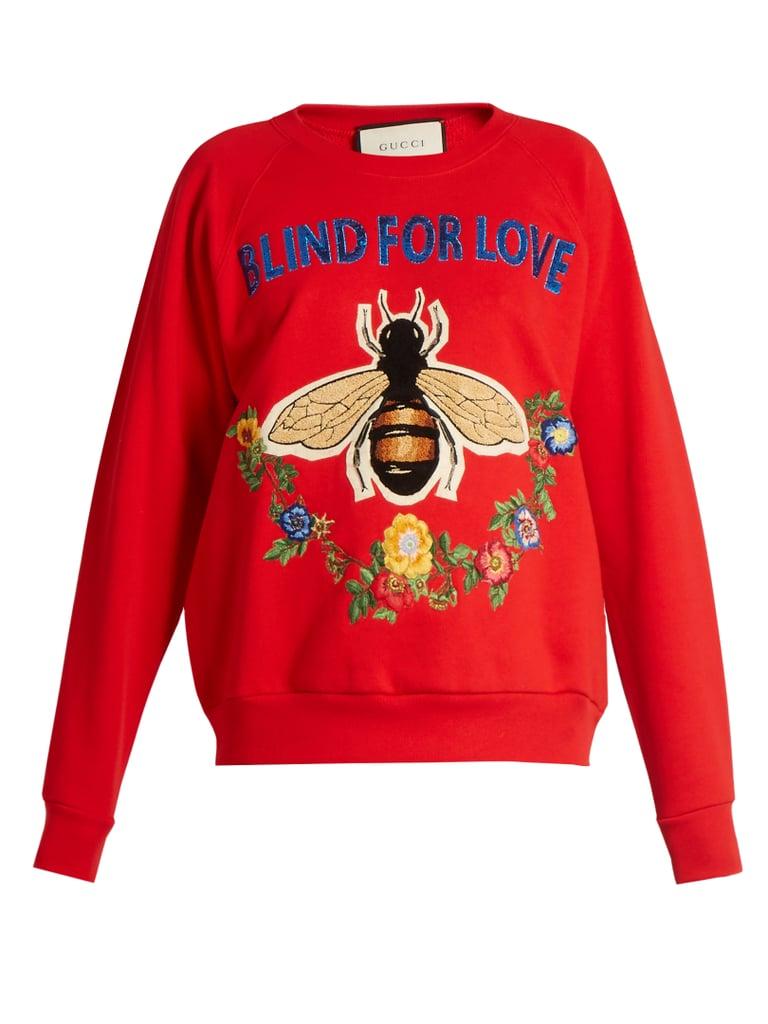 Gucci Bee and Floral Appliqué Sweatshirt