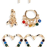 BP. 3-Pack Rainbow Heart Earrings