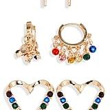 BP. 3-Pack Rainbow Heart Earrings