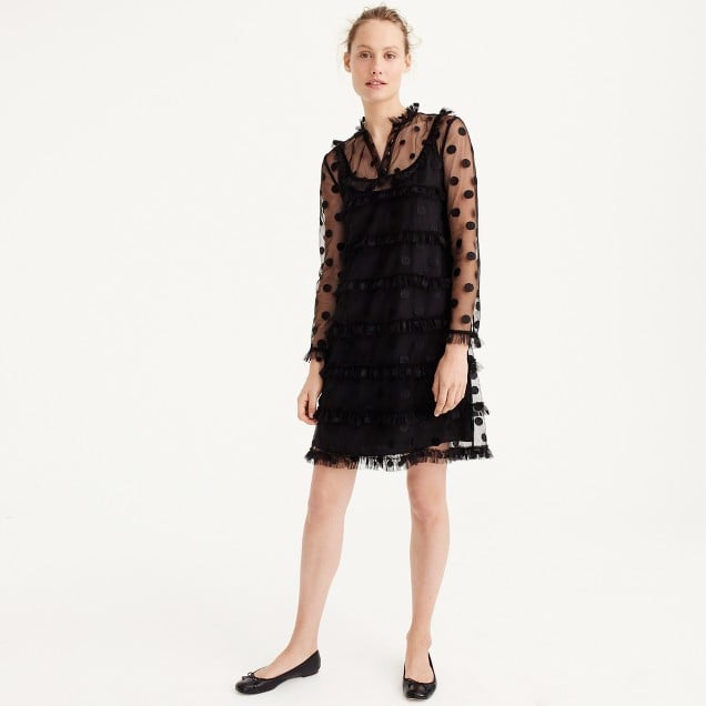 J.Crew Polka-Dot Embroidered Tulle Dress | Winter Wedding Outfit ...