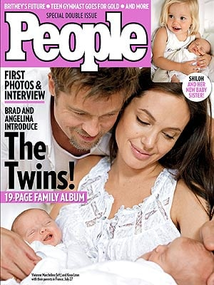 Sneak Peek at the Jolie-Pitt Twins!