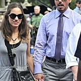 Robert Downey Jr. held hands with Susan Downey.