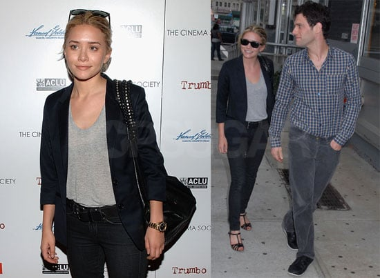 Photos of Ashley Olsen with Justin Bartha in NYC