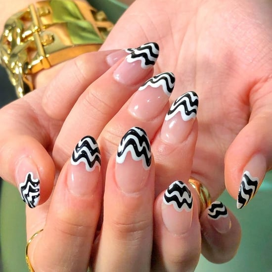 Squiggly French Tip Manicure Trend Ideas 2021