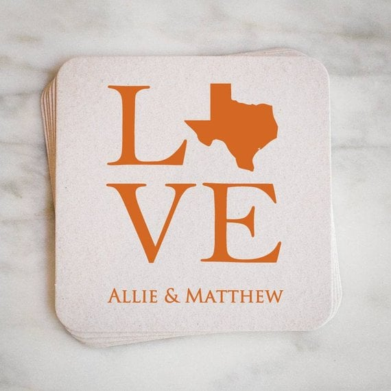 Personalized State Party Coasters