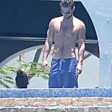 Chace Crawford soaked up the sun in Mexico on Sunday.