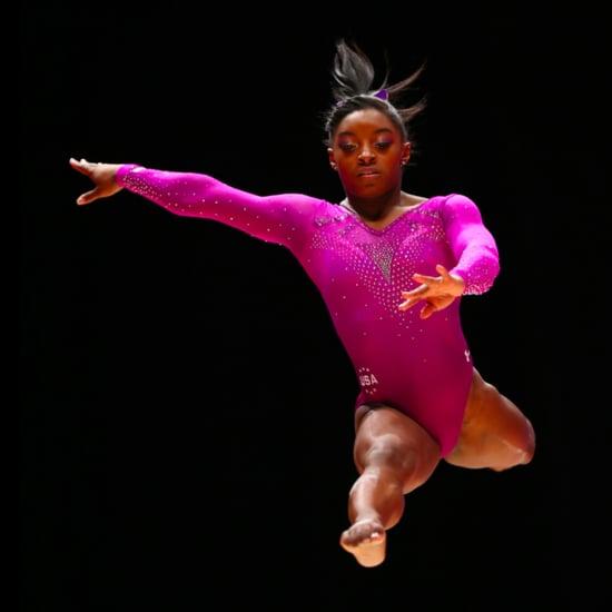 Gymnast Simone Biles Floor Routine