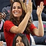 Kate Middleton cheered on Team GB.