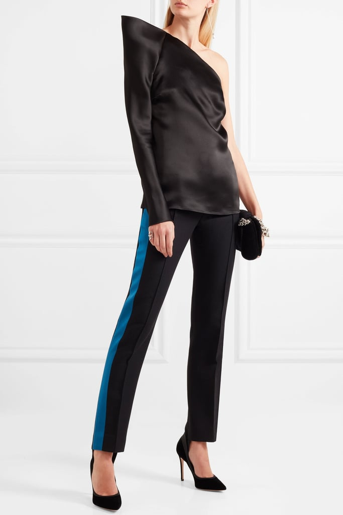 Thierry Mugler Satin-Trimmed Pants
