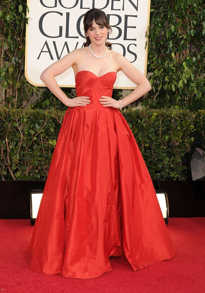 Zooey was red hot for the Golden Globes in 2013.
