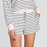 Stars Above Striped Perfectly Cozy Lounge Pajama Shorts
