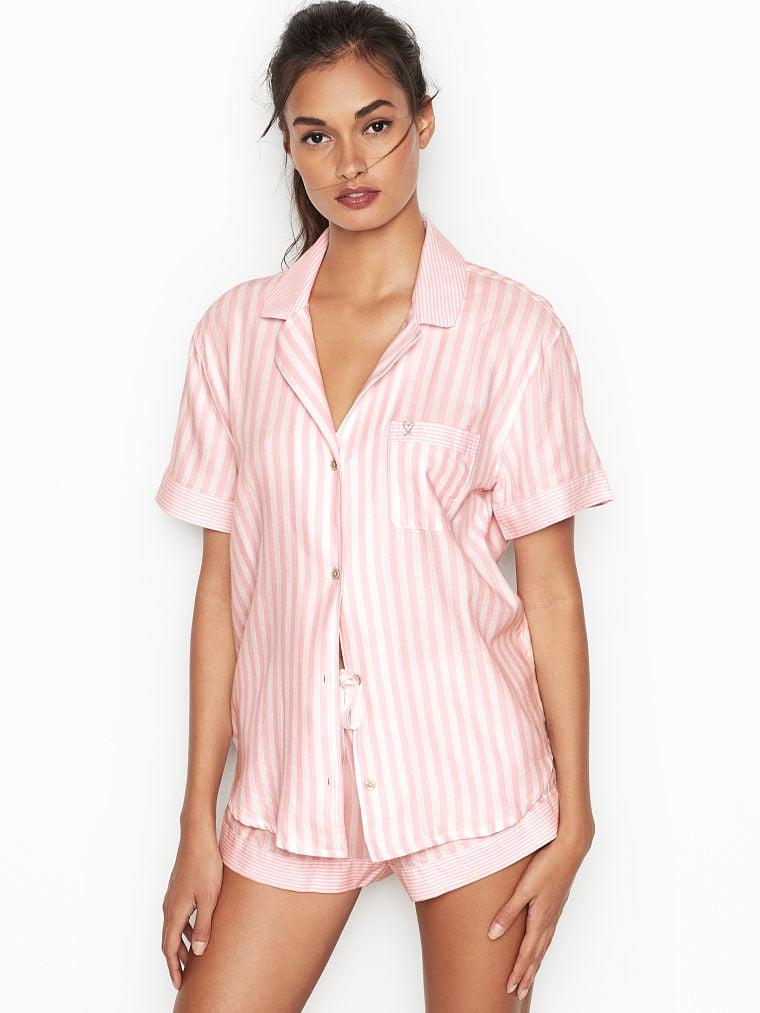 d856ab8a3444e Victoria's Secret Flannel Boxer PJ | Priyanka Chopra Pink Striped ...