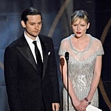 Spider-Man costars Tobey Maguire and Kirsten Dunst presented an award together.