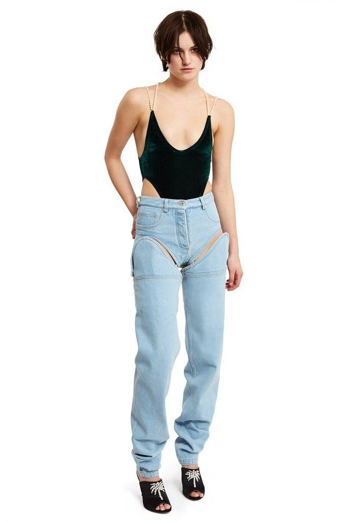 weird jean trends of 2017 popsugar fashion. Black Bedroom Furniture Sets. Home Design Ideas