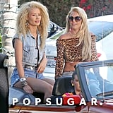 "Britney Spears and Iggy Azalea filmed the music video for ""Pretty Girls"" on Thursday in LA."