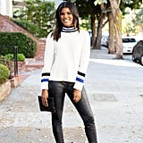Striped Mockneck Sweater