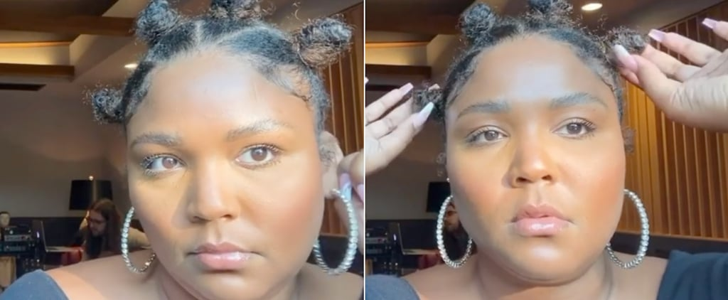 Lizzo's Bantu Knots Hairstyle