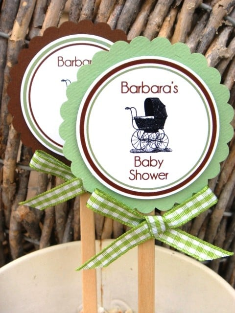 Personalized Cupcake Toppers ($11)