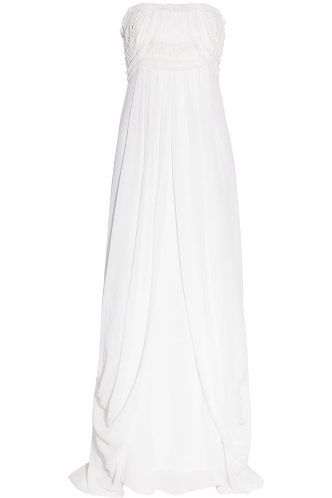 A classic silhouette that's as flattering as it is timeless.  Temperley London Long Mirage Silk-Georgette Gown ($3,585)
