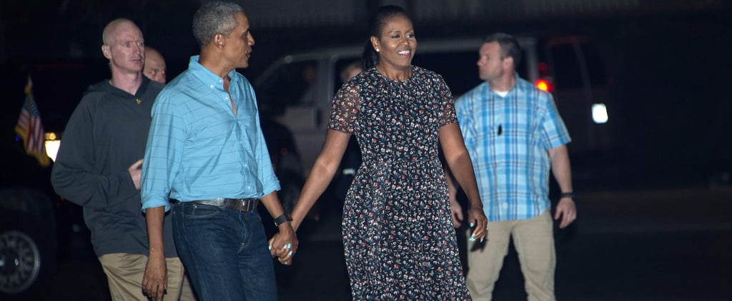 Michelle Obama Left Hawaii in a Dress You'd Never Think to Wear on a Plane