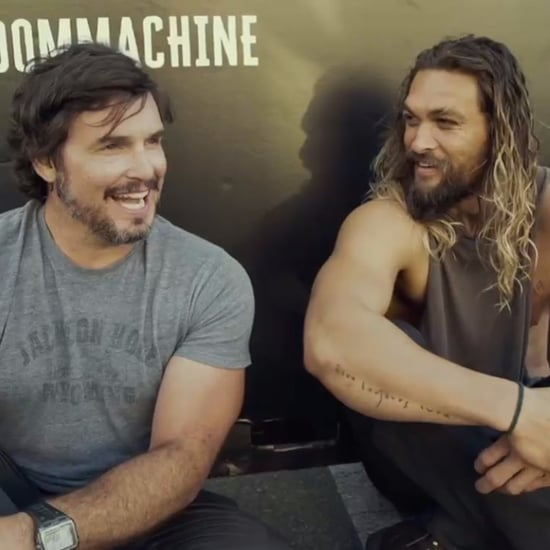Jason Momoa Receives Harley-Davidson on Aquaman Set