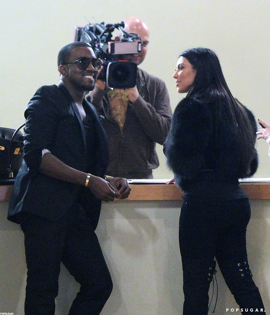 When did Kanye West first notice Kim Kardashian-West