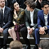 Aaron Paul, Dita Von Teese, Harry Styles, and Dev Patel attended the Burberry Spring Summer 2013 womenswear show.