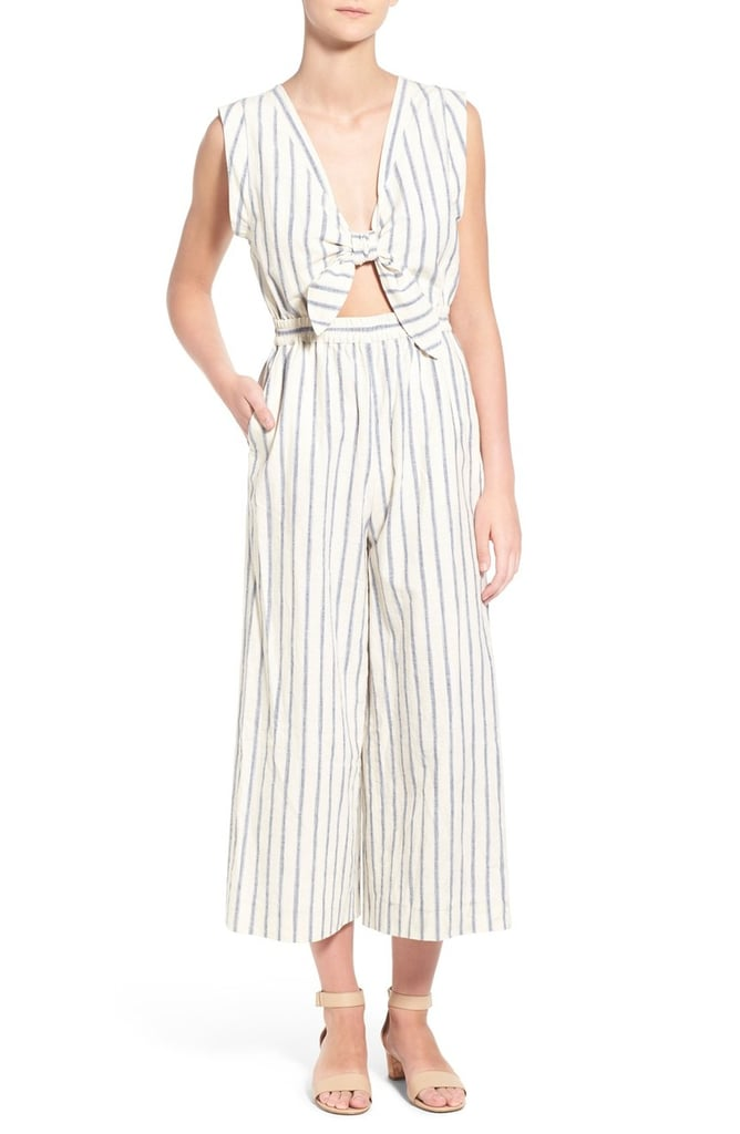 Madewell Ikat Stripe Tie Front Culotte Jumpsuit ($150)