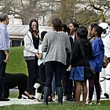 Malia and Sasha Obama Style at White House Egg Roll 2016
