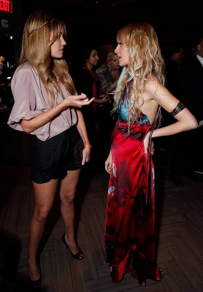 Lauren Conrad chatted with Nicole Richie during a UNICEF TAP Project fundraiser benefiting the Richie-Madden Children's Foundation in March 2009.