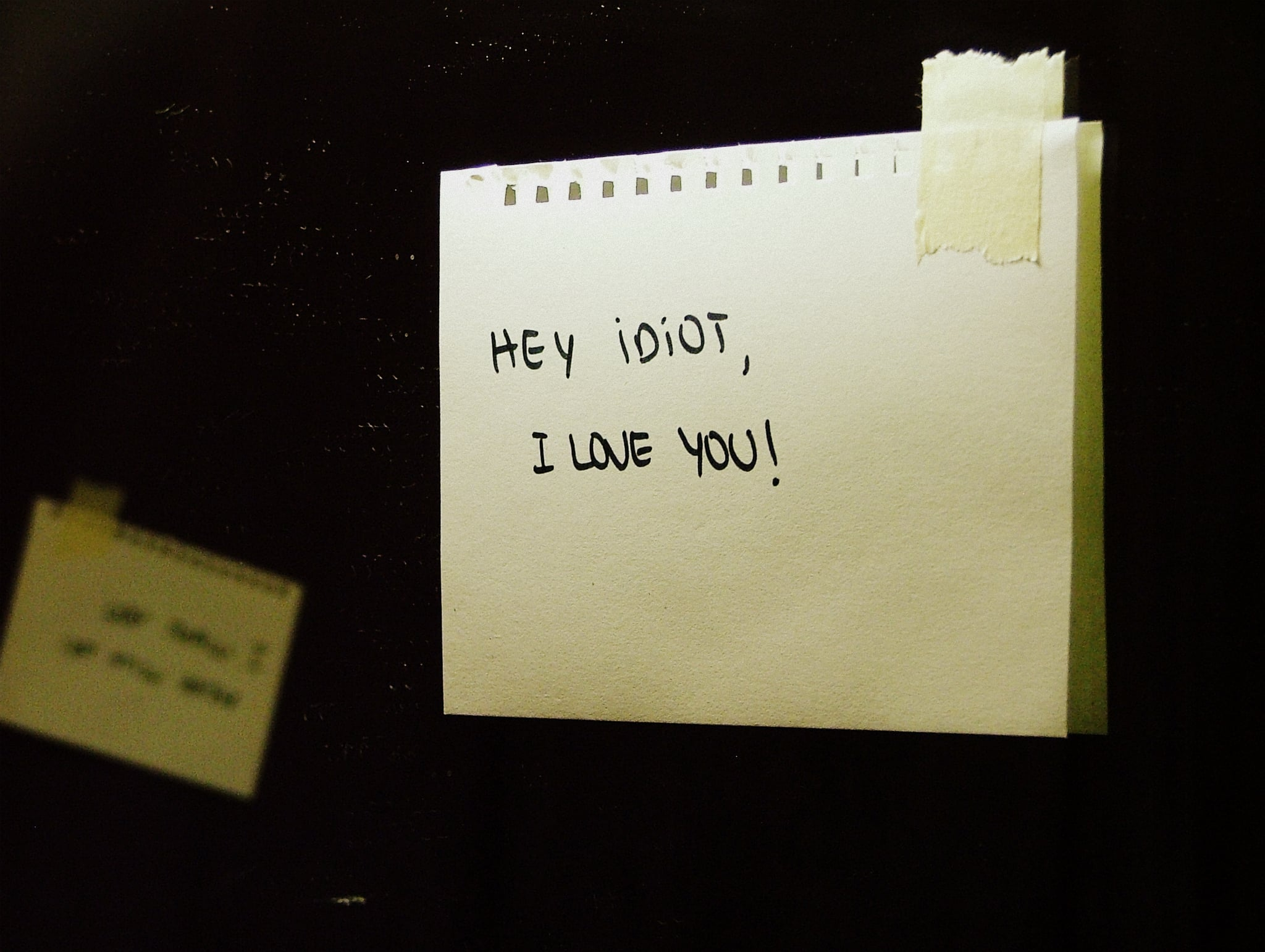 Leave them a funny love note somewhere surprising.