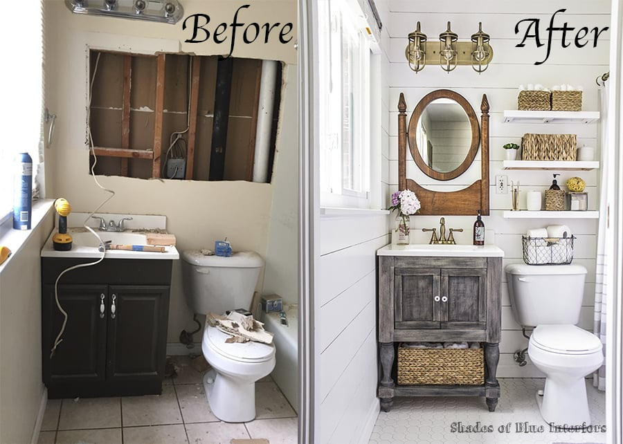 Farmhouse Bathroom Makeover Popsugar Home Australia