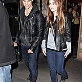 Taylor Lautner and Lily Collins Meet Up North For a Date Night