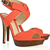 The combo of brown and orange makes this Alexandre Birman Shoe ($475), so bold and fun.