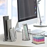Wire Metal 5 in 1 Desk Organizer Set