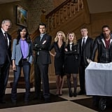 Victor Garber, Meagan Good, Wes Brown, Katherine LaNasa, Ella Rae Peck, Tate Donovan, and Laz Alonso in Deception.