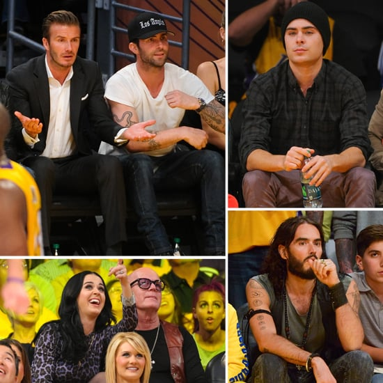 David Beckham Helps Open the Lakers Season With Zac, Katy, and More