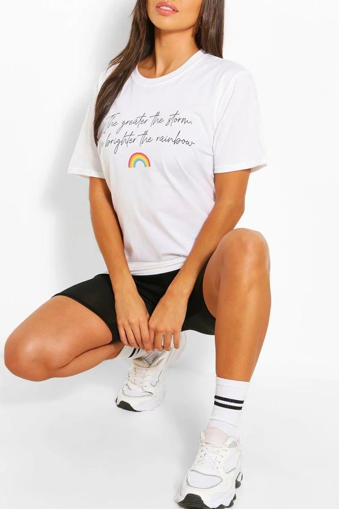 Boohoo NHS Charity Rainbow Graphic T-Shirt